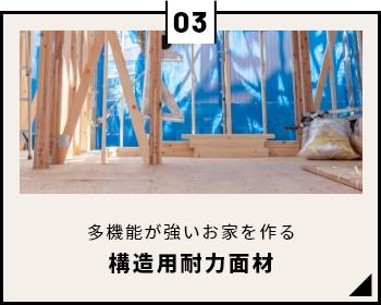 多機能性で強いお家を作る 構造用耐力面材