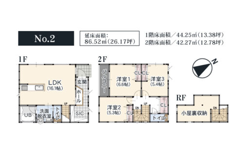 No.2:間取図